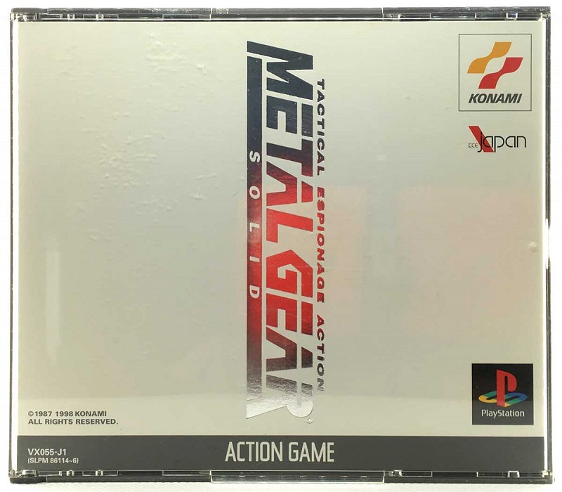 Photo of the jewel case for Metal Gear Solid for Sony Playstation