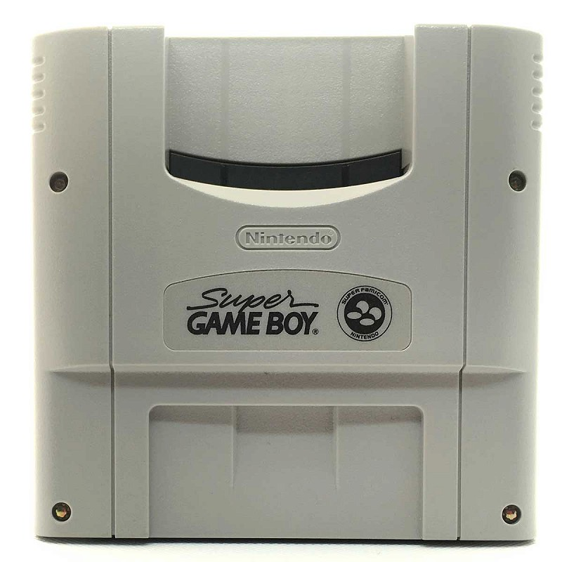 Photo of gray cartridge Super Game Boy for Super Famicom
